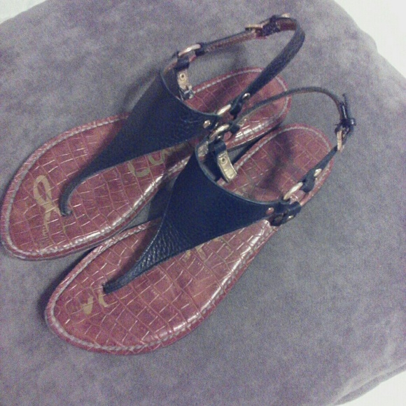 177caf37e Sam Edelman Greta Black Leather Sandals. M 5a9f0f06739d480138d4e47b